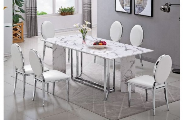 Granite makes the dining table surface